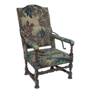 French Reclining Arm Antique Chair