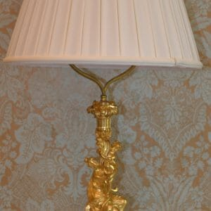 Louis XV Style Gilt Bronze Figural Lamp