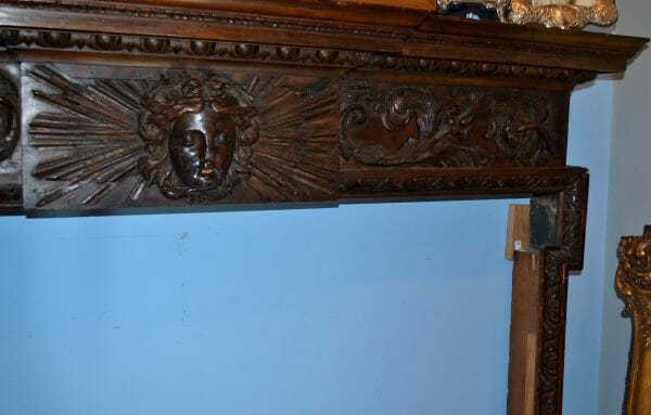 Carved Wood English Regency Fireplace Surround