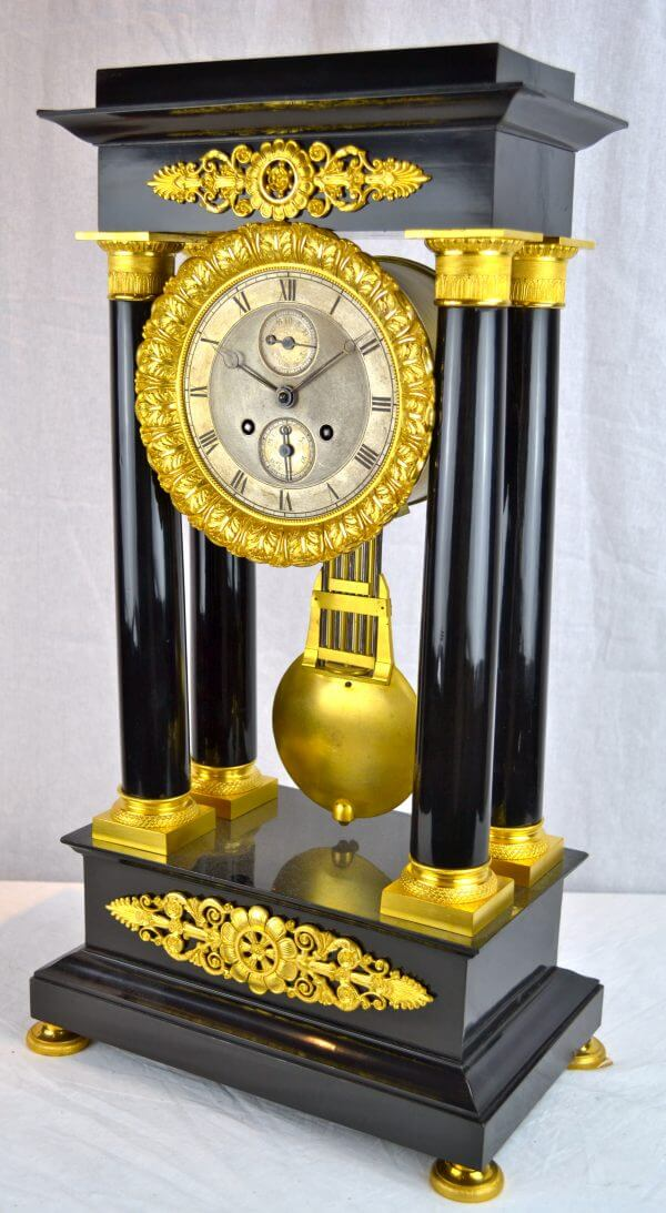 Louis Philippe Portico Clock with Complications