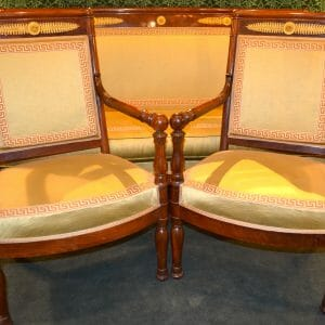 Three Piece French Empire Salon Set