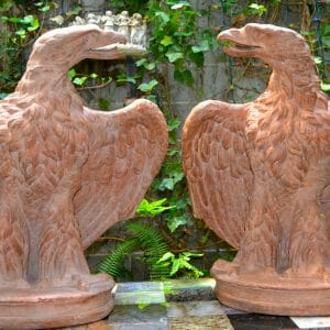 Life Size Terracotta Eagles