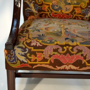English Chippendale Style Library Chair