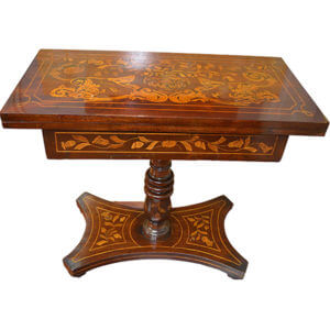 19thC Dutch Inlaid Games Table