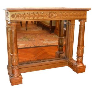 Empire Giltwood Console Stamped Bellanger