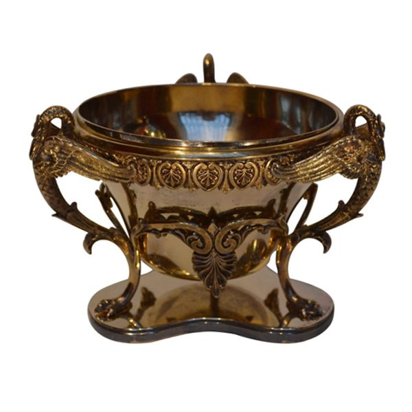 Empire Style Gilded Metal Dish