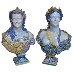 Faience de Rouen Busts of Summer and Autumn