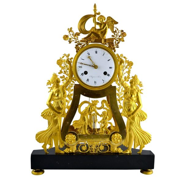 French Empire Skeleton Clock