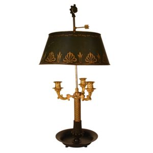 French Restauration period Bouillotte Lamp