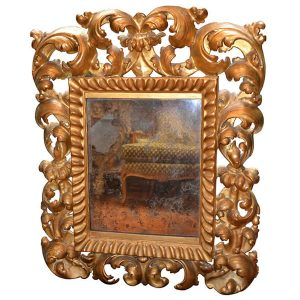 Gilt Wood Framed Venetian Mirror