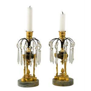 Louis XVI Gilt Candlesticks