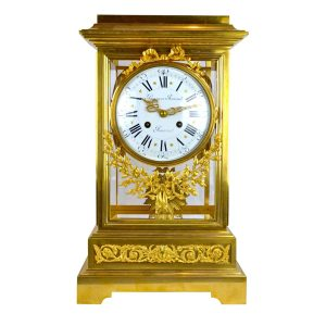 Louis XVI Style Gilt Bronze Regulator Clock