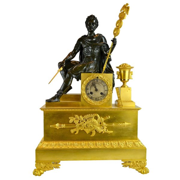 Seated Roman Emperor clock