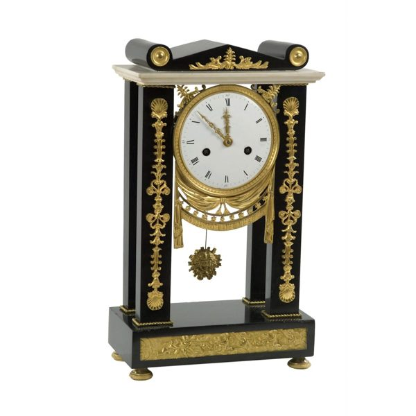 Empire Marble Portico Clock
