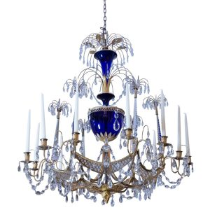Zech Crystal and Gilt Bronze Chandelier