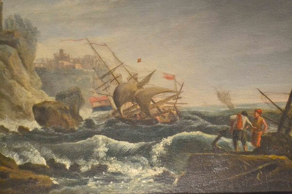 Oil on Canvas of a Shipwreck after Vernet