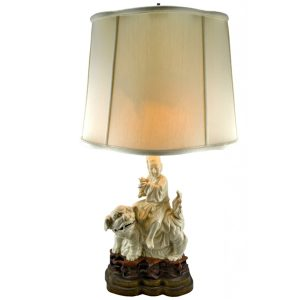 Blanc De Chine Foo Dog Lamp