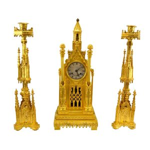 Cathedral Clock Garniture