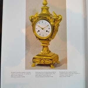 Empire Urn Clock with Dragon Handles