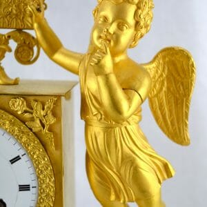 Empire Clock Showing a Standing Cupid