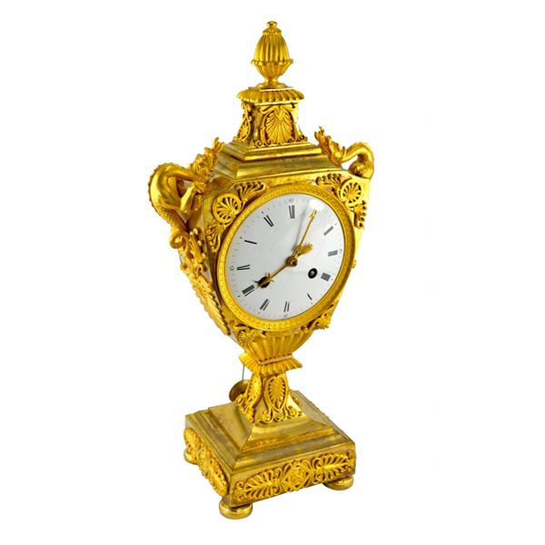 Urn Clock with Dragon Handles