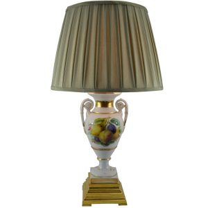 Meissen Painted Fruit Lamp