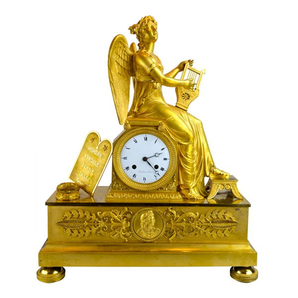 Allegory to Clio Clock