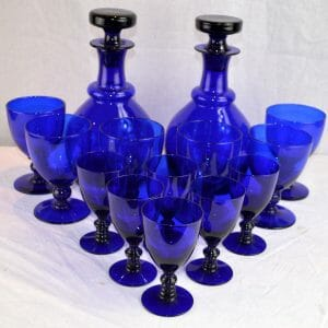 Bristol Glass Liquor Decanter Set