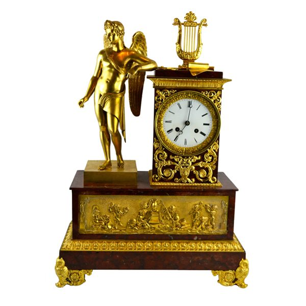 French Empire Clock Allegory to War