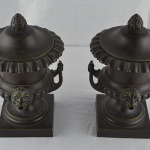 Pair of Regency Bronze Perfume Burners