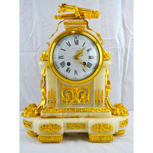 Louis XVI Style Ormolu and Onyx Clock