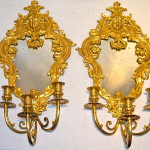 Louis XIV Style Mirrored Sconces