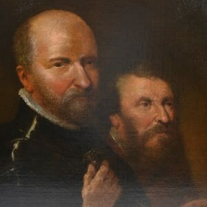 Oil Painting of two Renaissance Gentlemen
