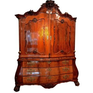 Dutch Mahogany Linen Press