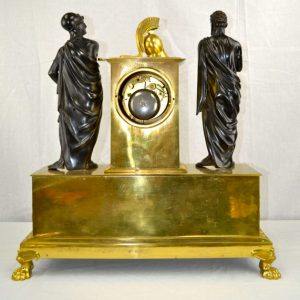 Clock depicting Achilles and Agamemnon