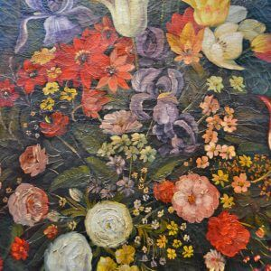 Large Still Life Oil Bouquet of Flowers