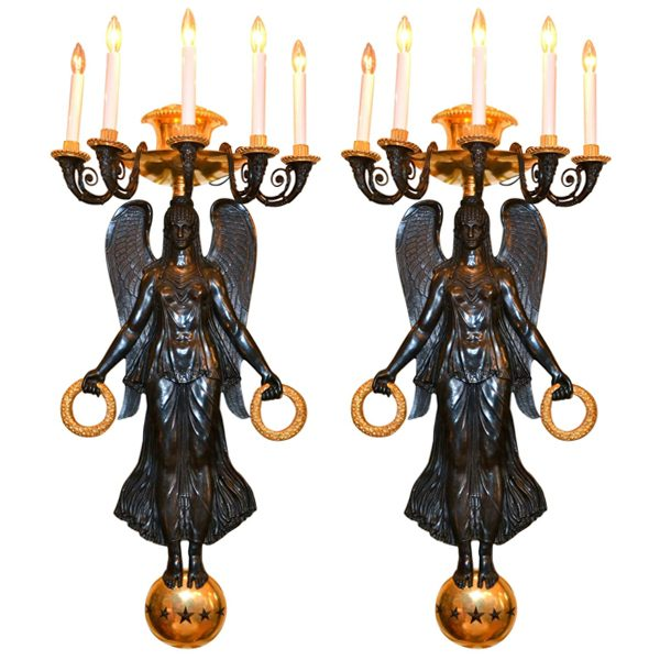 Empire Bronze Victory Sconces