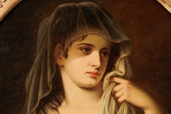 Friedrich Hofelder Portrait Quot Classical Maiden With An Oil