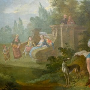 18thC oil painting of figures in a landscape attributed to Pater