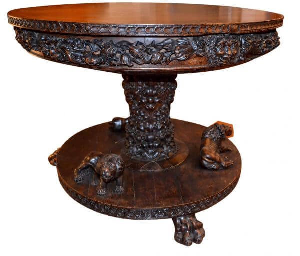 Renaissance Revival Center Table