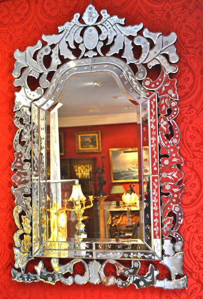 Venetian Etched Glass Mirrors