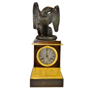 French Empire Eagle Clock