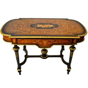 Napoleon III Marquetry Center Table