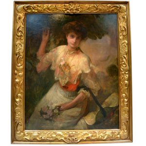 Laurence Koe signed Portrait of a lady