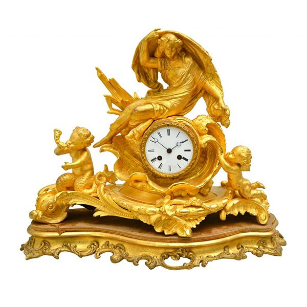 Clock Water Sprite with Putti